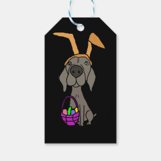 Cute Funny Weimaraner with Bunny Ears Gift Tags