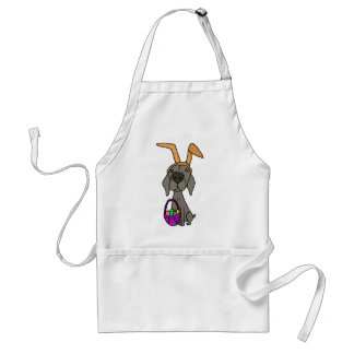 Cute Funny Weimaraner with Bunny Ears Standard Apron