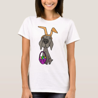 Cute Funny Weimaraner with Bunny Ears T-Shirt