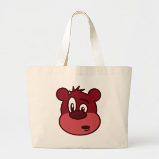 Cute Funny Winking Bear Canvas Bags