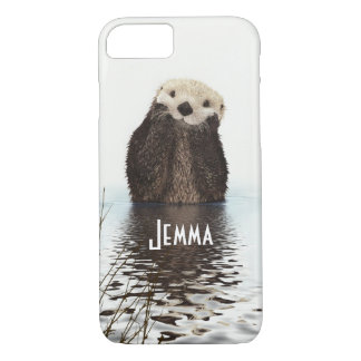 Cute Furry Otter In Water iPhone 7 Case