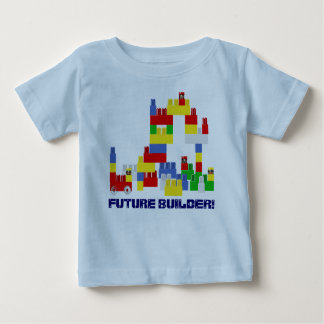 Cute FUTURE BUILDER Design w/  -Style Blocks Baby T-Shirt
