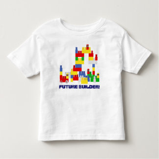 Cute FUTURE BUILDER Design w/ -Style Blocks Toddler T-shirt
