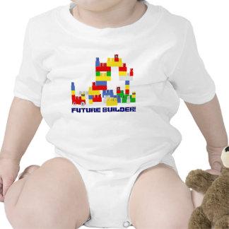 Cute FUTURE BUILDER Design w/ -Style Blocks Romper