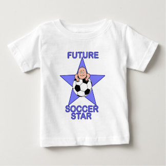 Cute Future Soccer Star Blue Baby T-Shirt