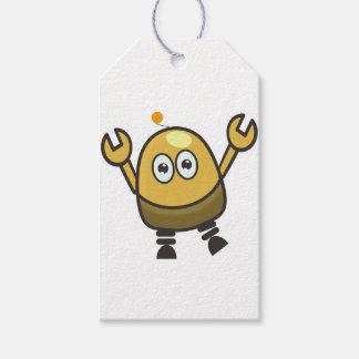 Cute futuristic robot gift tags