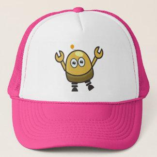 Cute futuristic robot trucker hat