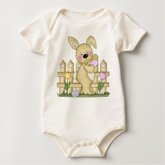Cute Fuzzy Easter Bunny Baby Bodysuit