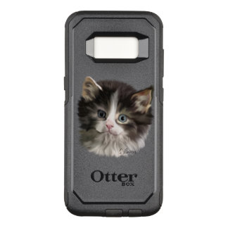 Cute Fuzzy Kitten OtterBox Commuter Samsung Galaxy S8 Case