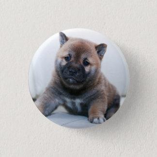 Cute Fuzzy Puppy Dog 1 Inch Round Button