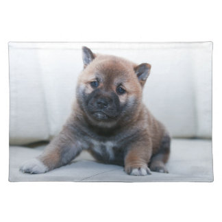 Cute Fuzzy Puppy Dog Placemat