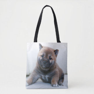 Cute Fuzzy Puppy Dog Tote Bag