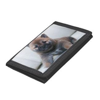 Cute Fuzzy Puppy Dog Tri-fold Wallet