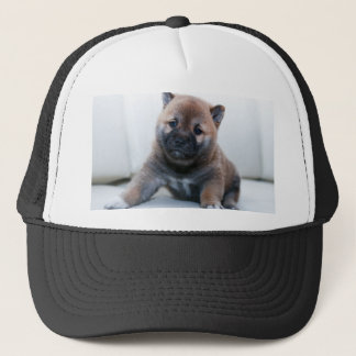 Cute Fuzzy Puppy Dog Trucker Hat