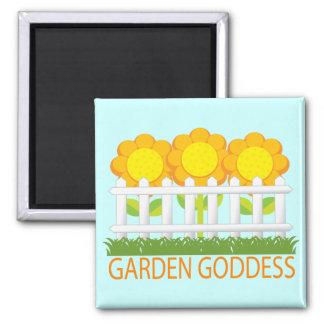 Cute Garden Goddess magnet