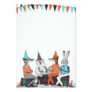 Cute Garden Party Animals Birthday Invitation