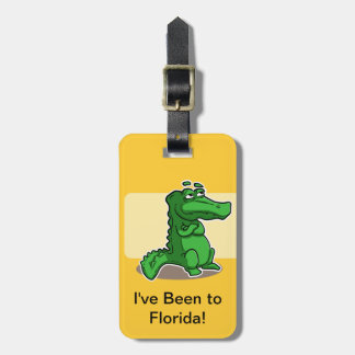Cute Gator Luggage Tag