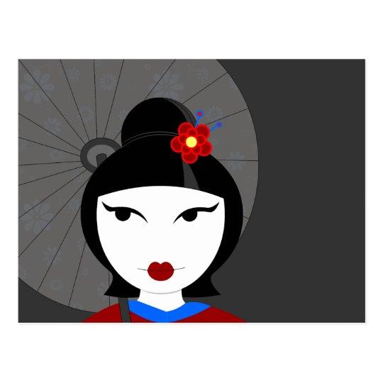 Cute Geisha Postcard