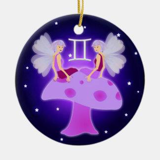Cute Gemini Zodiac Ceramic Ornament