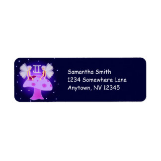 Cute Gemini Zodiac Custom Address Labels
