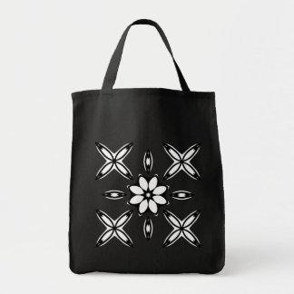 Cute geometric design black and white tote bag
