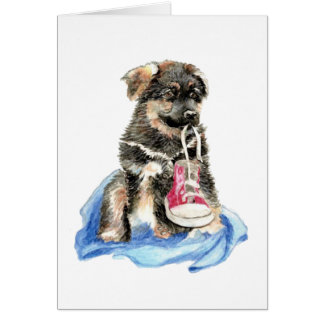 Cute German Shepherd Pup, Dog, Pet animal Card