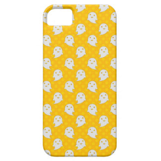 Cute Ghost Halloween Design Yellow Polka Dots iPhone 5 Cases