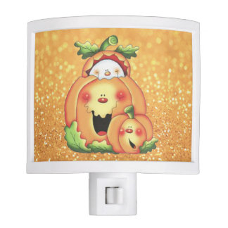 CUTE GHOST & PUMPKINS NIGHT LIGHT