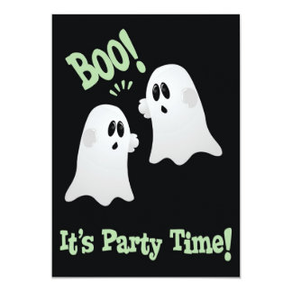 Cute Ghosts Halloween Party Invitation for Kids