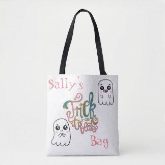 Cute Ghosts Trick Or Treat Bag Tote Bag