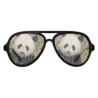 Cute Giant Panda Bear Aviator Sunglasses