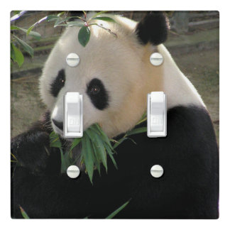 Cute giant panda bear light switch cover