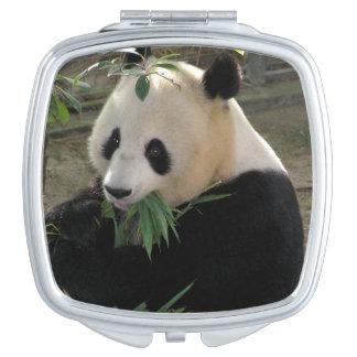 Cute giant panda bear makeup mirrors
