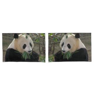 Cute giant panda bear pillowcase
