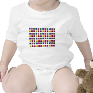 Cute Gift Box Bling Pattern Romper