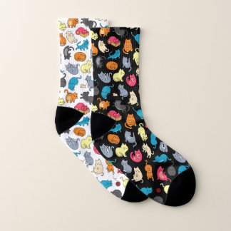 Cute Gift for Cat Lover Personalized Socks