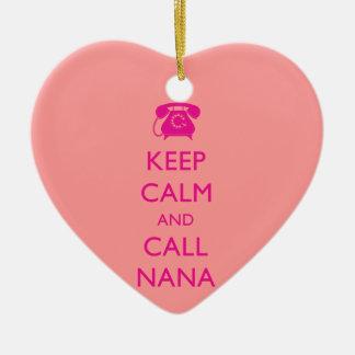 CUTE GIFT FOR NANA KEEP CALM PINK ORNAMENT GRANDMA