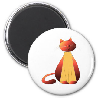 Cute Ginger Cat Art Magnet