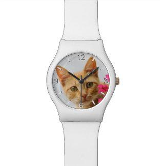 Cute Ginger Cat Kitten Photo - women dial-plate Watch