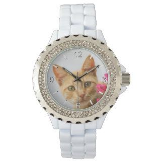Cute Ginger Cat Kitten Portrait - women dial-plate Wristwatches
