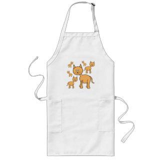 Cute Ginger Cats.  Cat Cartoon. Aprons