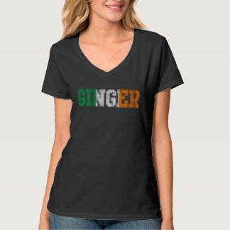 Cute Ginger Flag of Ireland T-Shirt