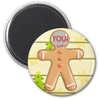 Cute Gingerbread Cookie Customizable Photo Magnet