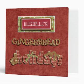 Cute Gingerbread Holidays Recipe BINDER