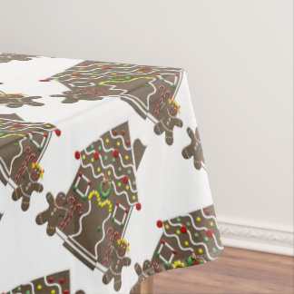 Cute Gingerbread House Cookies Tablecloth