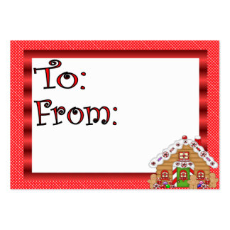 Cute Gingerbread House Gift Tag Large Business Cards (Pack Of 100)