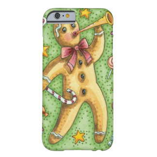 Cute Gingerbread Man Blowing Horn, Christmas Candy Barely There iPhone 6 Case