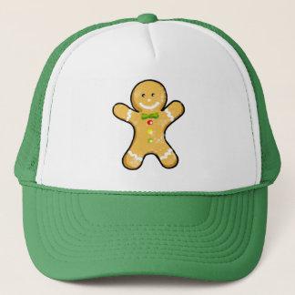 Cute gingerbread man cookie trucker hat