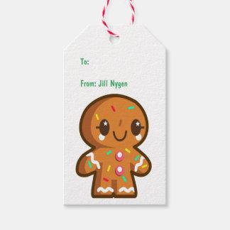 Cute Gingerbread Man Gift Tags