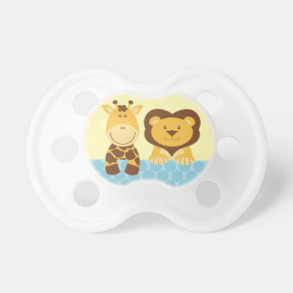 Cute Giraffe and Lion Animals Pacifier